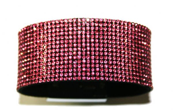 Diamante crystal bling cuff bracelet kit - Pink -- c4009004kit